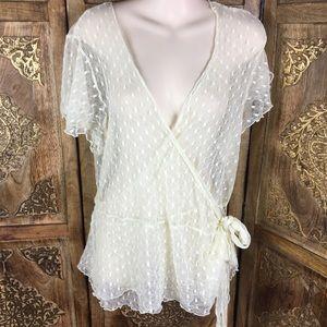 Lane Bryant lace wrap blouse size 14/16
